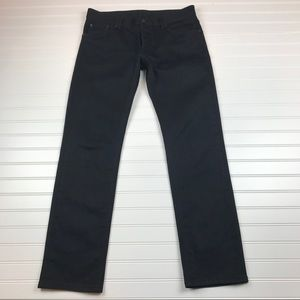 Prada Men's Tight Fit Buttonfly Black Jeans EUC